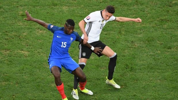 Pogba's France overcame Julian Draxler's Germany in Euro 2016 to reach the final