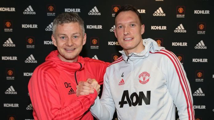 Jones has signed a new four and a half year contract with Manchester United