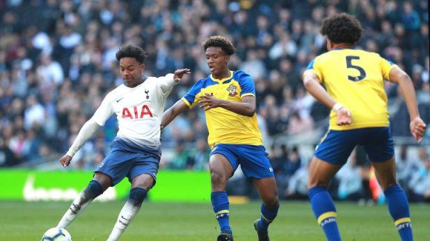 J'Neil Bennett scored the first ever goal at Tottenham's new stadium