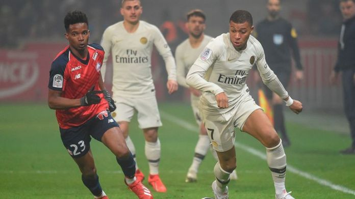 PSG was defeated 5-1 on Sunday in Ligue 1 against Lille