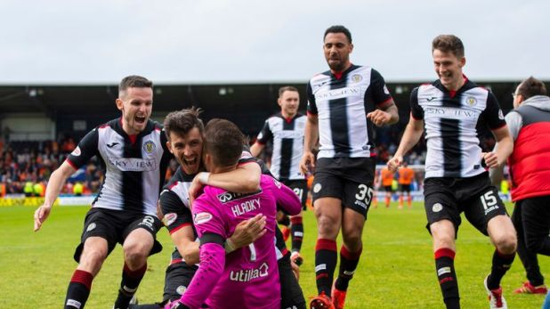 St Mirren retained their Scottish Premiership status after a dramatic shootout against Dundee United