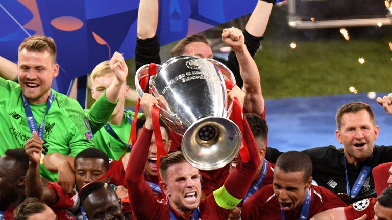 Liverpool beat Tottenham to win their sixth European Cup last season