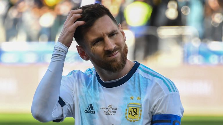 Lionel Messi had claimed Argentina were unfairly treated in the Copa America