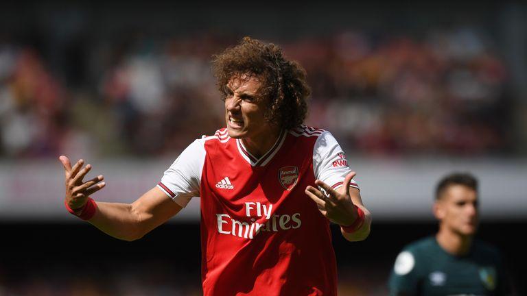 David Luiz made his first Premier League start for Arsenal