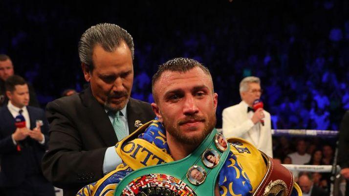 Lomachenko is the WBA, WBC and WBO lightweight champion