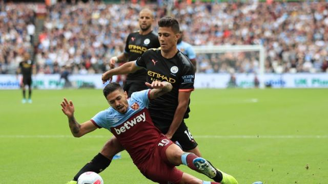 Lanzini has featured in all West Ham's games this season