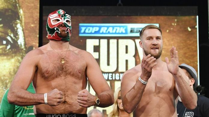 Fury puts his record of 28-0-1 on the line