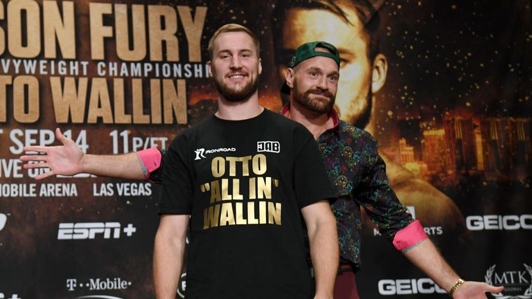 Fury faces Otto Wallin in Las Vegas on Saturday