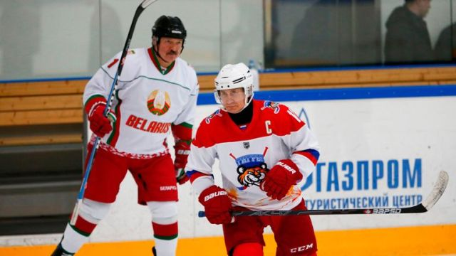 Lukashenko (pictured here with Vladimir Putin) is against imposing strict coronavirus measures