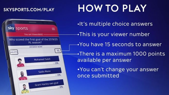 Sky Sports News Premier League Quiz - How To Play!