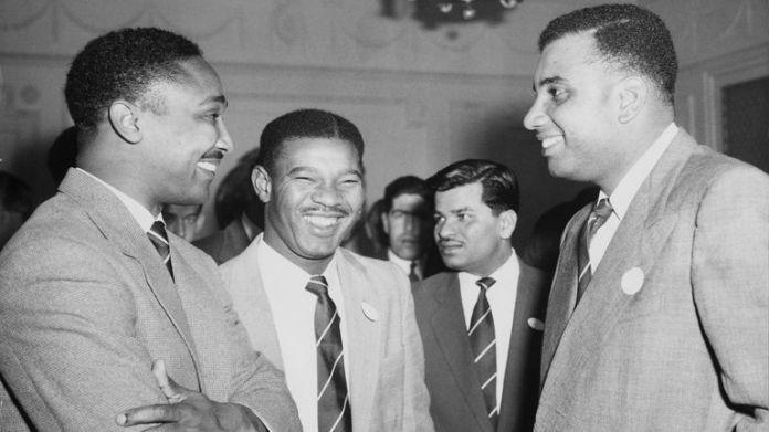 The Three Ws - Worrell, Weekes and Walcott - w West Indian Club, Londyn, kwiecień 1957