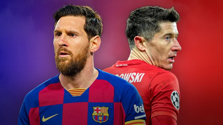 Lionel Messi and Robert Lewandowski go head-to-head when Barcelona face Bayern Munich on Friday night in the Champions League quarter-finals