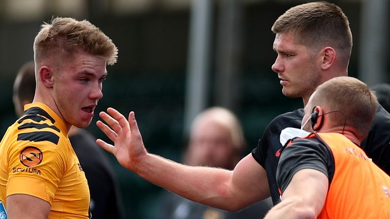 Farrell apologised to Charlie Atkinson after being sent off for a dangerous tackle