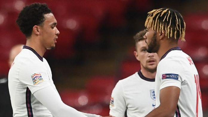 Trent Alexander-Arnold was replaced by Reece James against Belgium on Sunday
