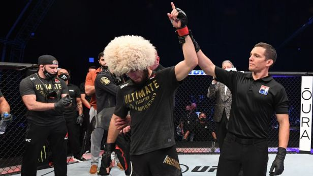 Khabib Nurmagomedov announces retirement after beating Justin Gaethje at  UFC 254 | MMA News | Sky Sports