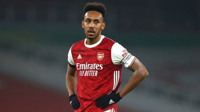 Pierre-Emerick Aubameyang made a frustrated figure against wolves