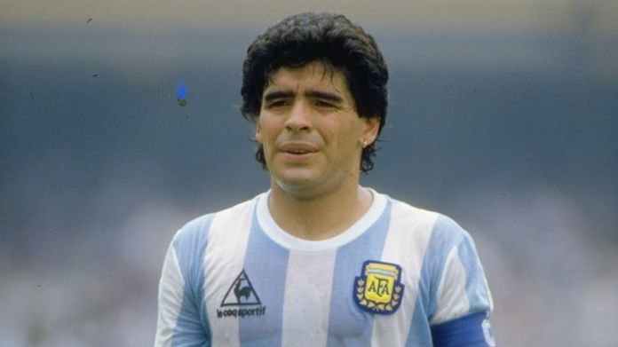 Diego Maradona of Argentina