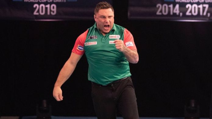Gerwyn Price was on song for Wales again as he won his opening rubber against Gabriel Clemens