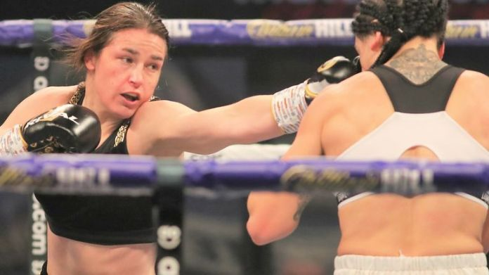 Katie Taylor sealed a points victory over Spaniard Miriam Gutierrez