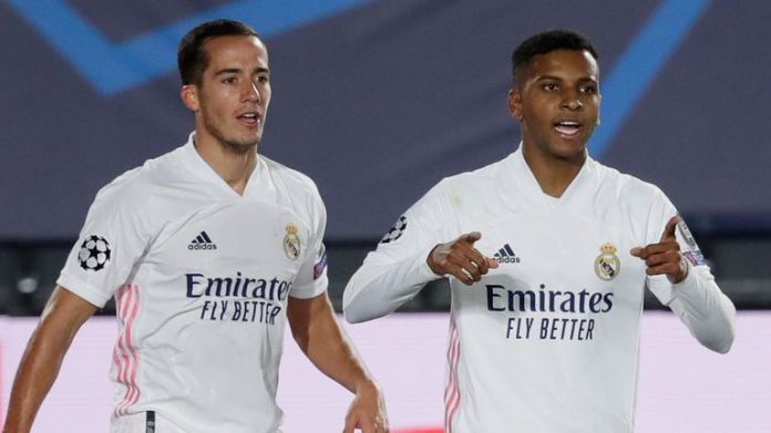 Rodrygo celebrates his late winner for Real Madrid over Inter Milan