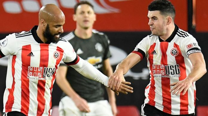 David McGoldrick scored both goals for Sheffield United