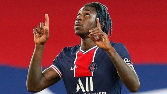 Moise Kean has scored 11 goals in 18 games for PSG on his season-long loan from Everton