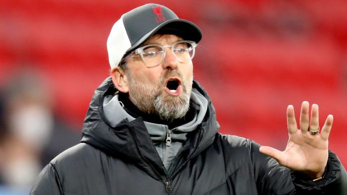 Liverpool manager Jurgen Klopp during the win over RB Leipzig in Budapest