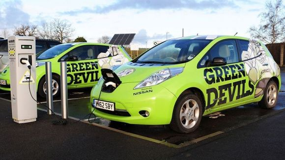 Electric cars are one of many ways Forest Green Rovers are trying to help save the planet