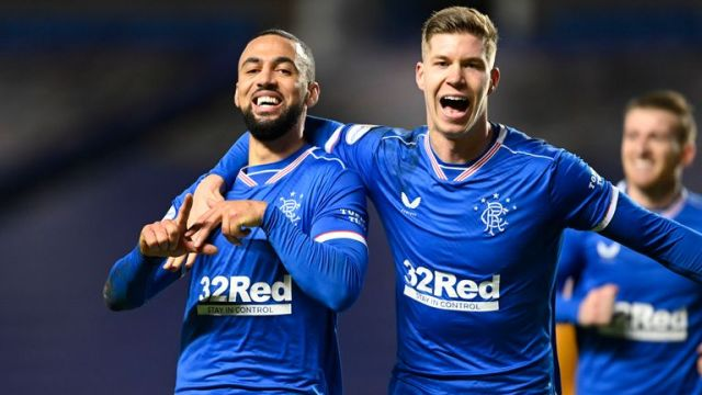 Kemar Roofe celebrates Rangers evolution
