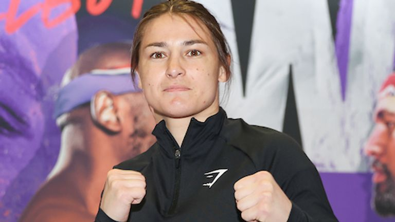 *** FREE FOR EDITORIAL USE ***.Katie Taylor trains at the fight hotel .28 April 2021.Picture By Mark Robinson Matchroom Boxing