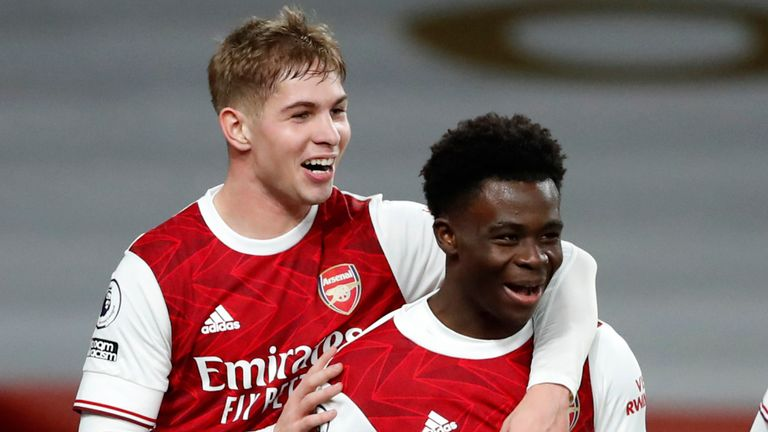Bukayo Saka and Emile Smith Rowe's return to fitness has given Arsenal a boost ahead of their clash with Slavia Prague