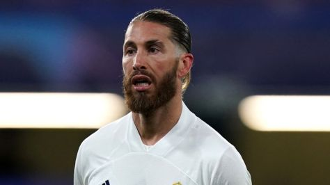 Real Madrid's Sergio Ramos during the UEFA Champions League Semi Final second leg match at Stamford Bridge, London. Picture date: Wednesday May 5, 2021.