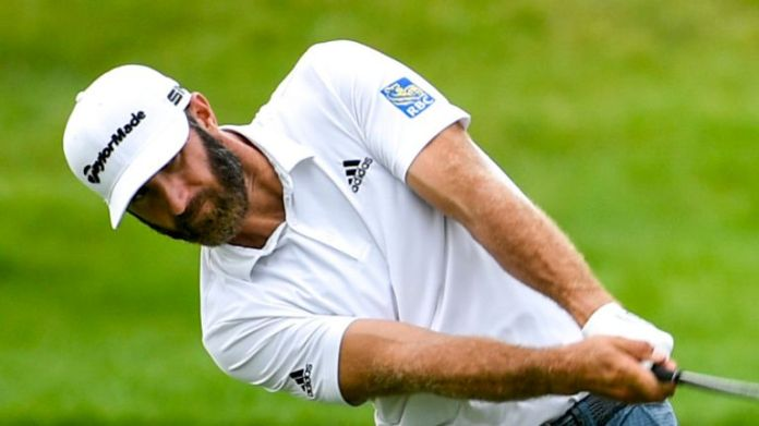 Dustin Johnson was in the group on level-par and ten off the halfway lead