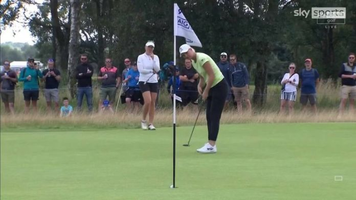 A look back at highlights from Anna Nordqvist's final-round 69 at the AIG Women's Open, where the Swede claimed a one-shot victory at Carnoustie.