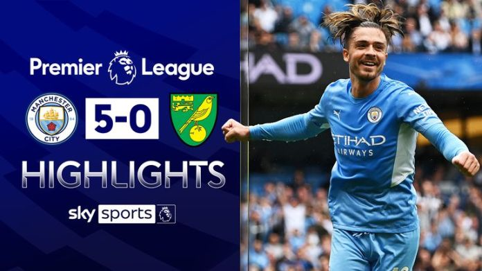 Grealish on target as City thrash Norwich