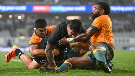 Codie Taylor scored two tries as New Zealand racked up a half-century of points against Australia