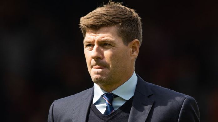 DUNDEE, SCOTLAND - AUGUST 07: Rangers manager Steven Gerrard during a cinch Premiership match between Dundee United and Rangers at Tannadice, on August 07, 2021, in Dundee, Scotland (Photo by Craig Williamson / SNS Group)