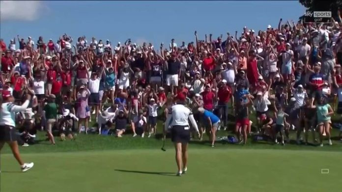 Highlights of Lizette Salas and Jennifer Kupcho's 3&1 victory over Anna Nordqvist and Matilda Castren