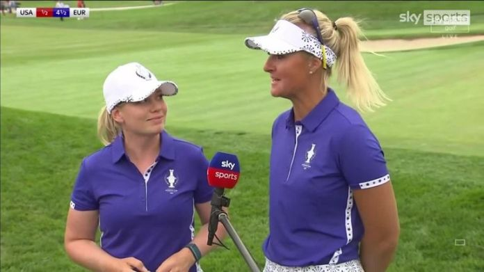 Anna Nordqvist and Matilda Castren reflect on despatching Lexi Thompson and Mina Harigae 4&3 to secure their second win of the day for Team Europe