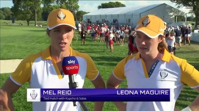 Leona Maguire said Europe's half-point against USA duo Salas and Kupcho almost felt like a win