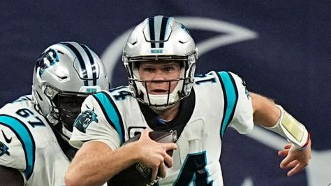 Sam Darnold threw for over 300 yards for the Carolina Panthers and found the endzone twice