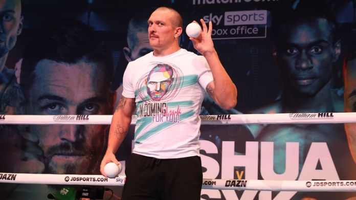 Oleksander Usyk during a Open Workout ahead of his fight this weekend at Tottenham Hotspur Stadium..21 September 2021.Picture By  Matchroom Boxing