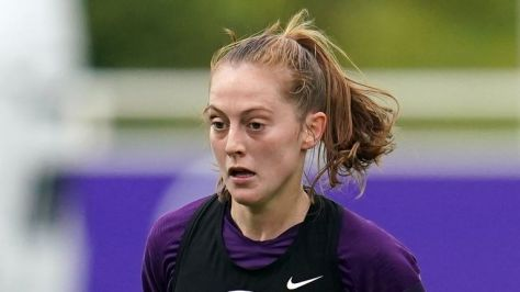 Keira Walsh trains with the England Women squad ahead of their World Cup qualifier against Northern Ireland