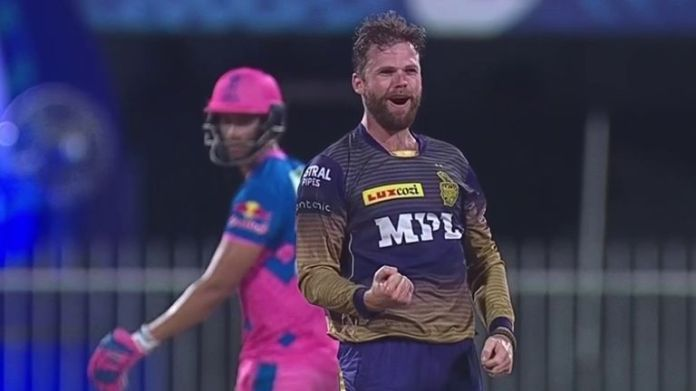 Lockie Ferguson bowled superbly as Kolkata bowled Rajasthan out for 86 to - barring a miracle for Mumbai - clinch a play-off place