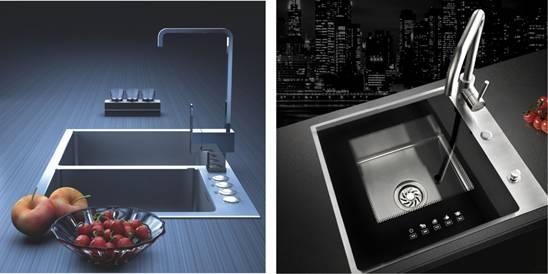 new kitchen sink rubber flooring 禹佳禾环保定制智能水槽开启厨房水槽新时代 禹佳禾环保定制智能水槽优势