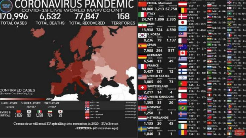 Mapa del coronavirus en Argentina y el mundo en tiempo real ...