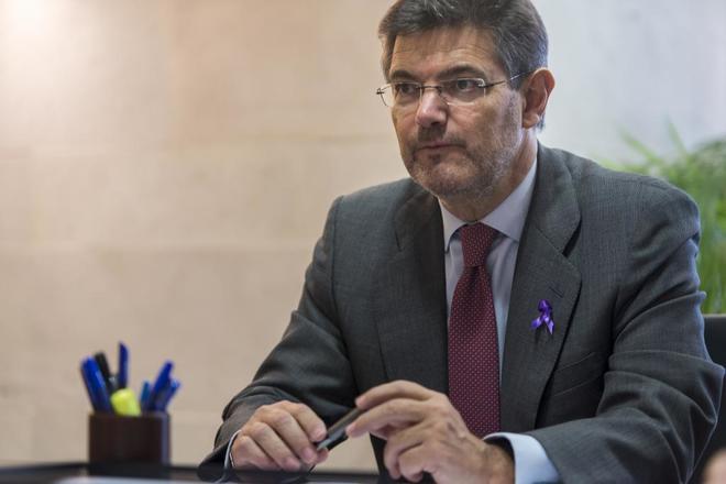 El ministro de Justicia, Rafael Catalá, en una reunión el pasado...