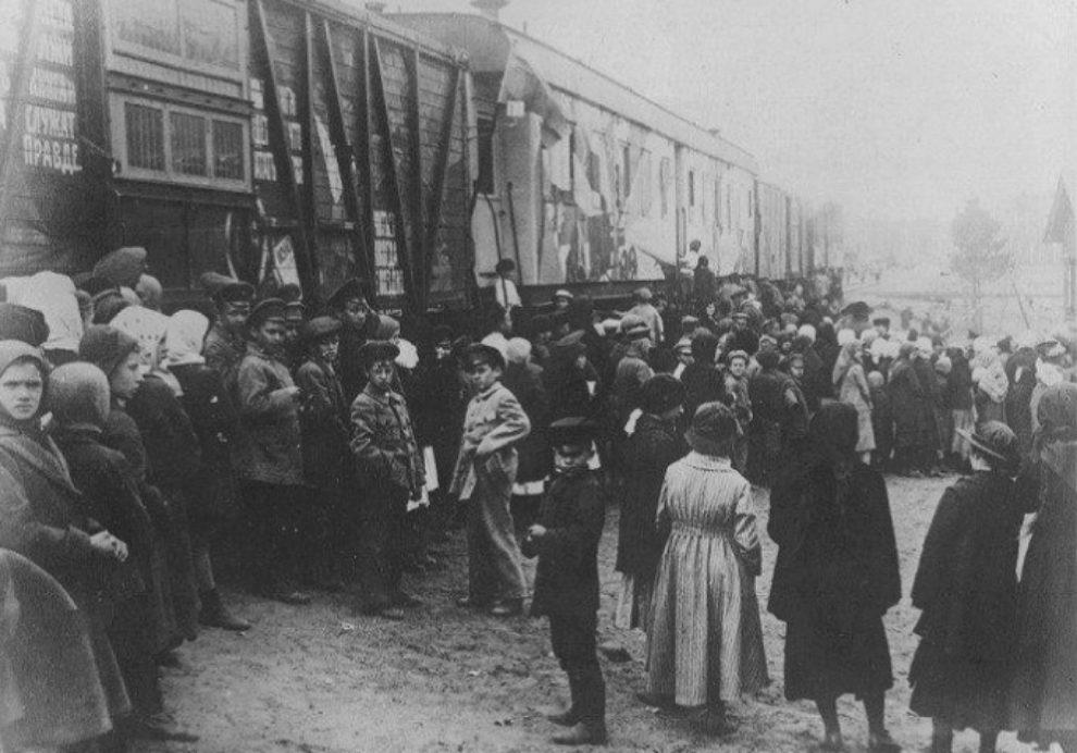 Imagen de la Revolución de Octubre.