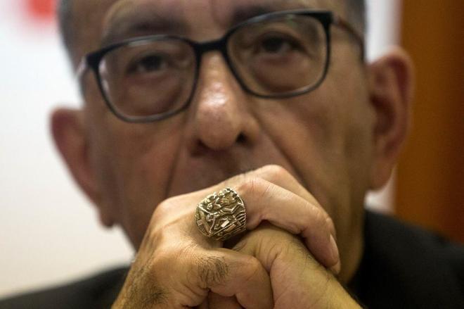 El cardenal arzobispo de Barcelona, Juan José Omella, en un acto...