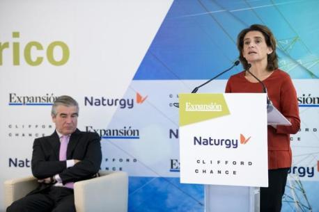 La ministra de Transición Energética, Teresa Ribera